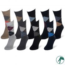 heren sokken ruiten zonder naden op de teen