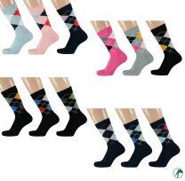 ruiten sokken van modal zeer zacht en zonder naadjes