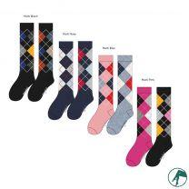 ruiten kousen en lange sokken van zachte modal zonder naadjes.
