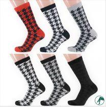 pied de poule sokken zonder naden op de tenen