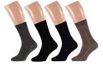 Wollen heren sokken met dubbele zool