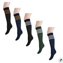 kinderkniekousen en lange sokken met strepen en naadloos