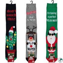 heren kerst sokken badstof en anti slip