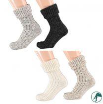 dikke wollen dames sokken zonder elastiek