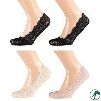 kanten kousen voetje footies