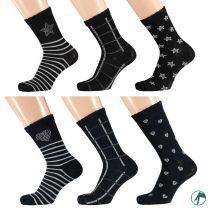 Kinder sokken zonder teennaad Hart-Ster per 3 paar.