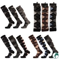 kniekousen en lange sokken met ruiten