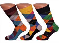 ruiten heren sokken felle kleuren