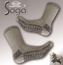 dikke merino wollen sokken met anti slip noppen