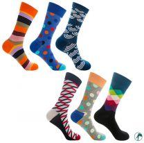leuke fel gekleurde heren sokken zonder naadjes op de tenen