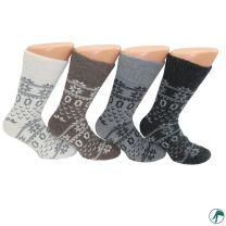 warme dikke wollen sokken met soepel boord