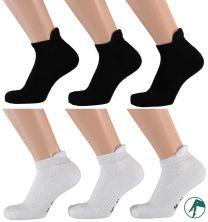 sneaker sport sokken zwart wit