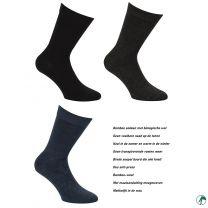 sokken van bamboe met bio wol
