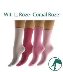 roze sokken vlakke teennaden