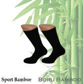 Sport sokken van Bamboe met vlakke teennaden 1 paar.