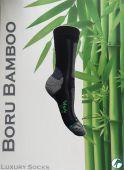 Werk sokken van Bamboe met vlakke teennaden 1 paar.
